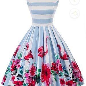 Grace Karin 50s Vintage pleated dress